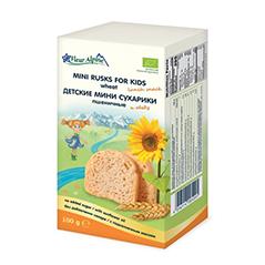 Сухарики детские, пшеничные мини