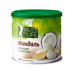Миндаль в сахаре с кокосом